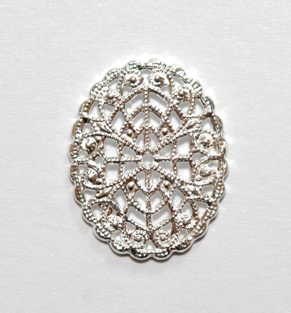 1 x 925 sterling silver filigree dangle 16mmx21.5mm (12132chad)