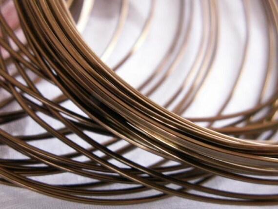 Vintaj Brass Bronze Square 21 Gauge Wrapping Wire - 5 Feet