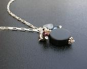 Hockey Puck Necklace - Black Necklace