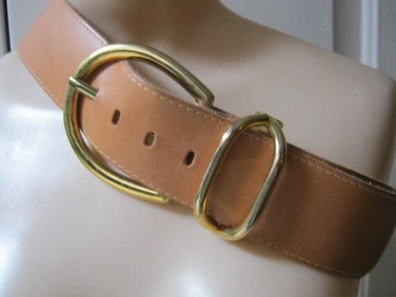 Vintage Leather Belt Belt British Tan Leather