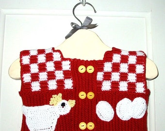 ON SALE:  Baby vest for boy or girl - Breakfast on the Farm - from my published book