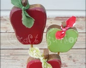 Cute little scrappy fall apples on a stand trio