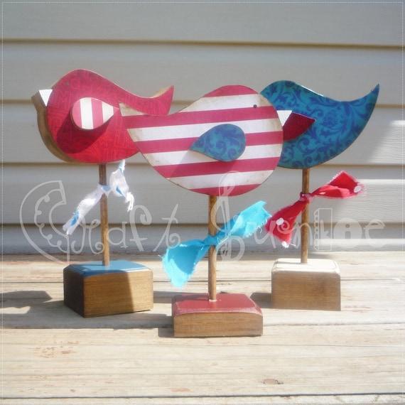 Patriotic 4th of July tweety bird trio