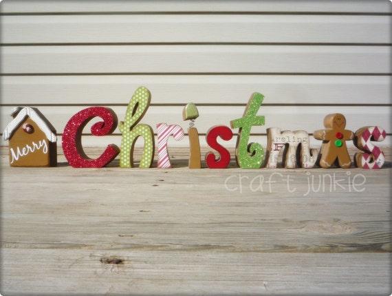 Merry Christmas Gingerbread  Letter Set