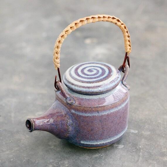 Wheel Thrown Stoneware Purple Teapot
