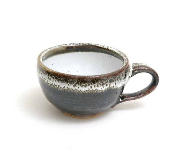 Wheel Thrown Stoneware Clay  Rustic  Coffee cup