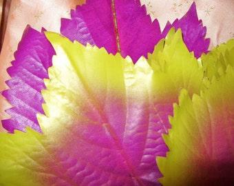 Vintage Millinery Flower Leaves Purple Lime Green Grape Craft  Corsage Trim Fascinator Hat Making Supplies
