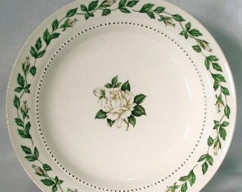 Hall Cameo Rose Bread Plate 3 Vintage Jewel Tea White Rose Pattern China