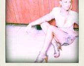 VTG 70's designer VIVA JANET Indie Psychedelic mini Party Dress