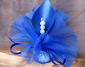 wedding favors table decoration calla lily crystal royal blue