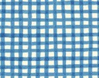 Price Reduced!  Aunt Lindy's Squares in Blue (7172-7) - BTY - Blue Hill Fabrics