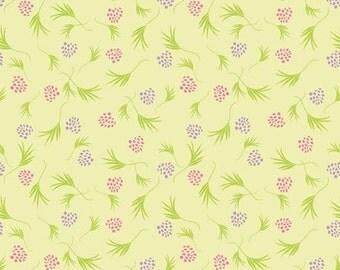 Price Reduce!  Za Za Zing Berry Leaf in Yellow (E60-1120-YEL) - BTY - Studio E