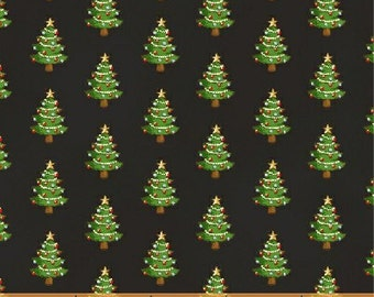 Black Tiny Christmas Trees (30864-3) - BTY - Windham Fabrics