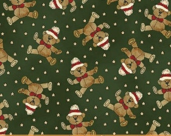 Price Reduced!  Green Christmas Teddy Bears (30867-4) - by the piece - 22-inches