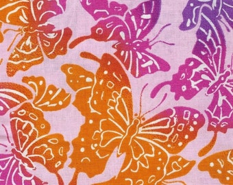Sale!  Fat quarter bundle in pink floral and butterflies (5)