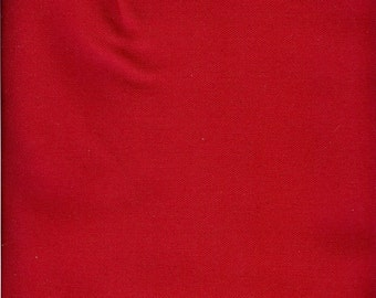 9 to 10 oz red duck canvas - 100% cotton - half yard