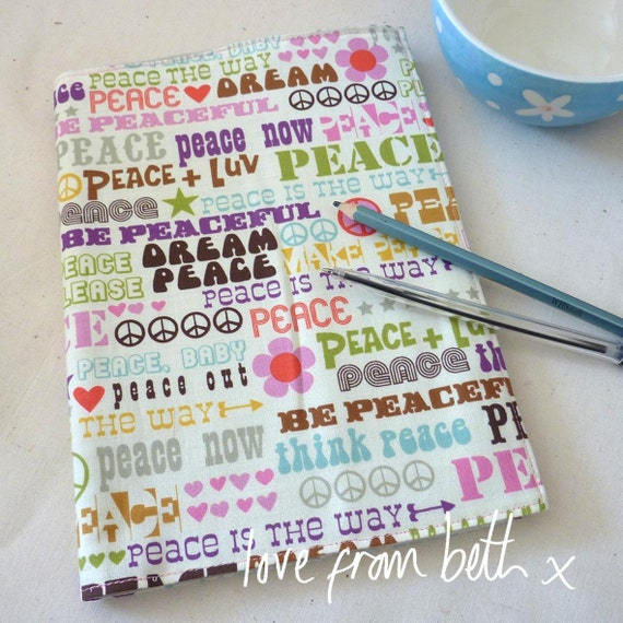 Reusable Fabric Notebook Cover