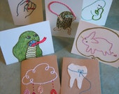 sissyFIST VALUE PACK 3 hand stitched cards for 20 dollars