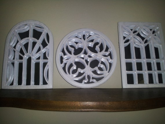 Set of 3 Shabby Chic Wall Small Decor Mirrors