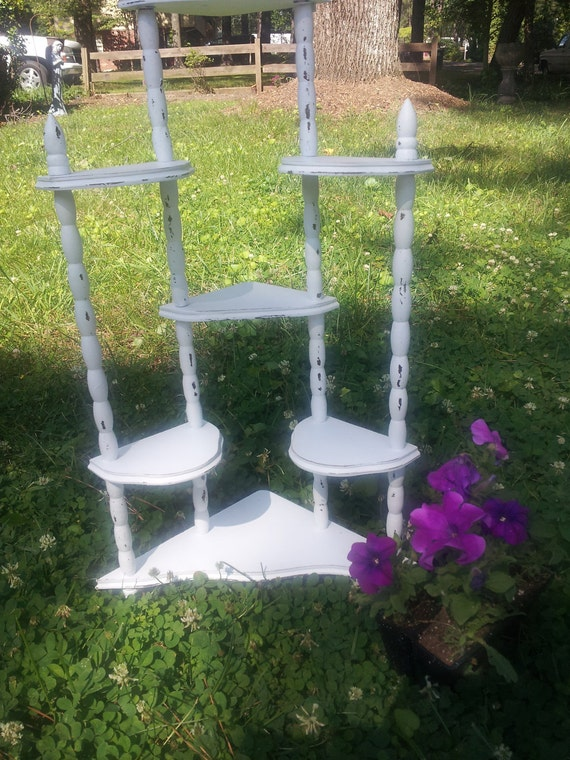 RESERVED Shabby Chic Multi Tiered Corner Shelf - ShIPPing NoT INcLUdED