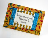 Quilted Fabric Postcard Quotation Success