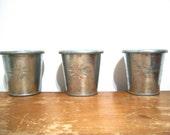 SET OF THREE SMALL TINS - MINIATURE POTS