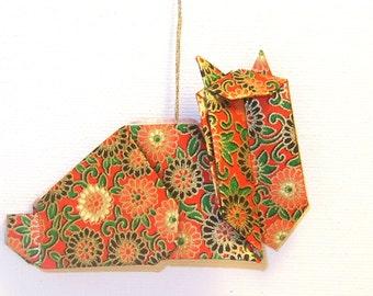 Paper Cat Ornament