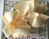 New Item----Boutique Big TRIPLE Layered Hairbow with Nylon Headband----You Pick Color--------