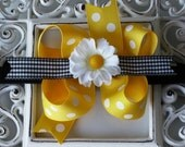 NEW ITEM----Boutique Baby Girl Toddler Hair bow Dainty Headband-----Miss Daisy Lou----