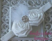 NEW ITEM----Boutique Baby Girl Headband with Double Roses--------