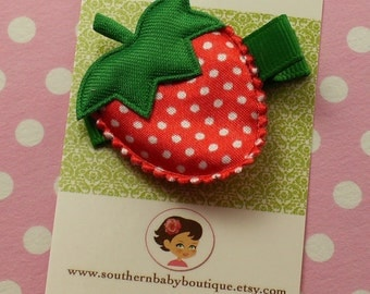 New Item----Boutique Baby Girl Toddler Clip Clippy----STRAWBERRY