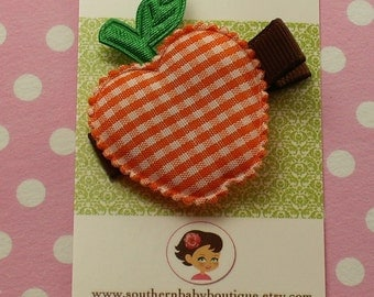 New---Boutique Baby Girl Toddler Clippy---ORANGE APPLE
