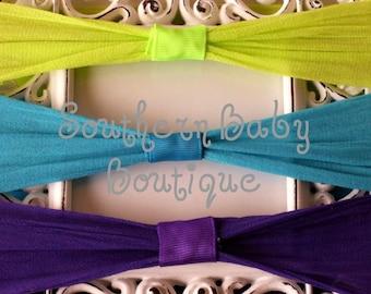 NEW ITEM-------Boutique Baby NYLON Interchangable Headband------You Pick Color