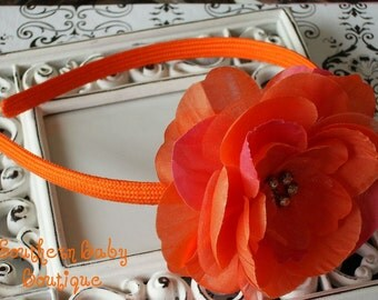 NEW ITEM----Rhinestone Flower Headband--------Robin