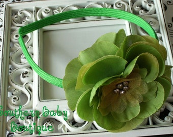 NEW ITEM----Rhinestone Flower Headband--------Kelly