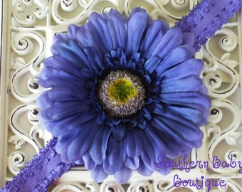 INVENTORY BLOWOUT SALE-----Boutique Baby Girl Toddler Flower Headband-----Purple Passion-----Photo Prop