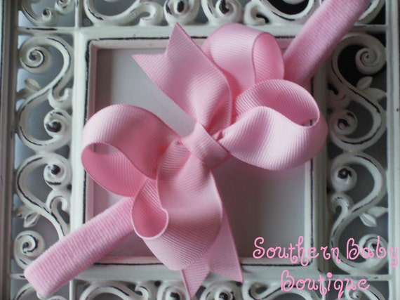 Boutique Baby Girl Toddler Hair bow Dainty Headband-----PRECIOUS PINK----Makes a Perfect Gift