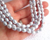 Pearls, rice, lavender blue, 6-6.5mm, 16 inch full strand
