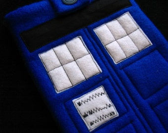 TARDIS phone, eReader, Kindle iPad Nook iPad mini tablet Case, custom sleeve / cozy for Doctor Who in Royal Blue fans by MyFunkyCamelot