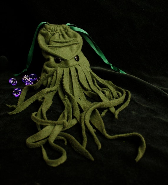 KRAKEN dice bag- wristlet purse - electronic gadget case could also be Davy Jones Custom made for you