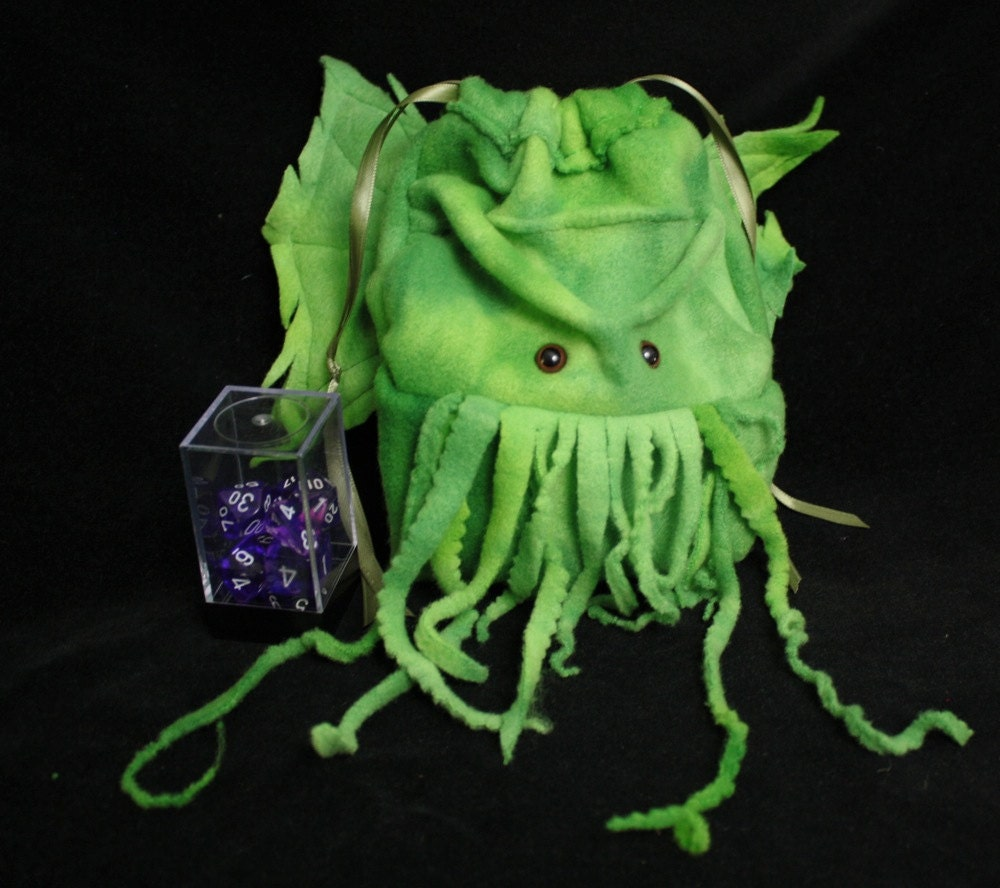 large Cthulhu drawstring dice bag Wristlet Purse for