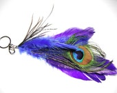 Peacock Feather Purse Charm