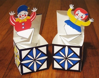 Jack in the Box Pop Up Printable DIY file Toy Crafts
