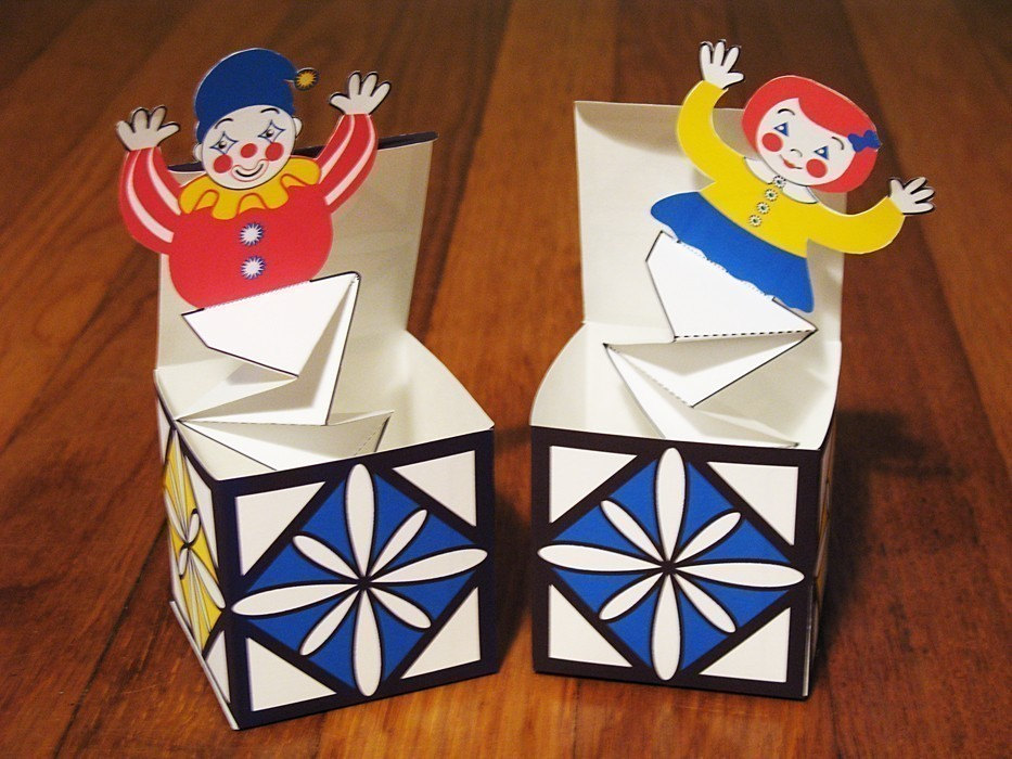 Jack in the Box Pop Up Printable DIY PDF Toy Crafts by AmyPerrotti