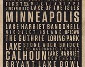 16x20 Minneapolis Digital Canvas Print // Locality