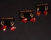Small HeartOn Heart Pendant Earrings