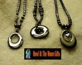 Hematite Necklace with Hematite Circle Pendants