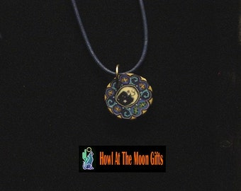 Fimo Man In The Moon Pendant Necklace