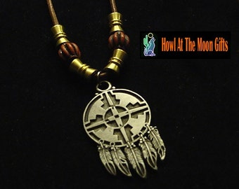 Handcrafted Pewter Dream Catcher Pendant Necklaces