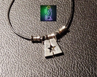 Joining Star Pendant Leather Rope Necklace